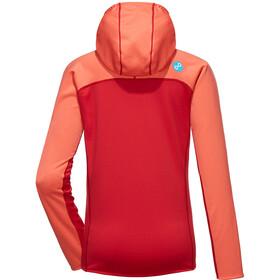 PYUA Crest S Veste à capuche zippée Femme, grapefruit/jester red